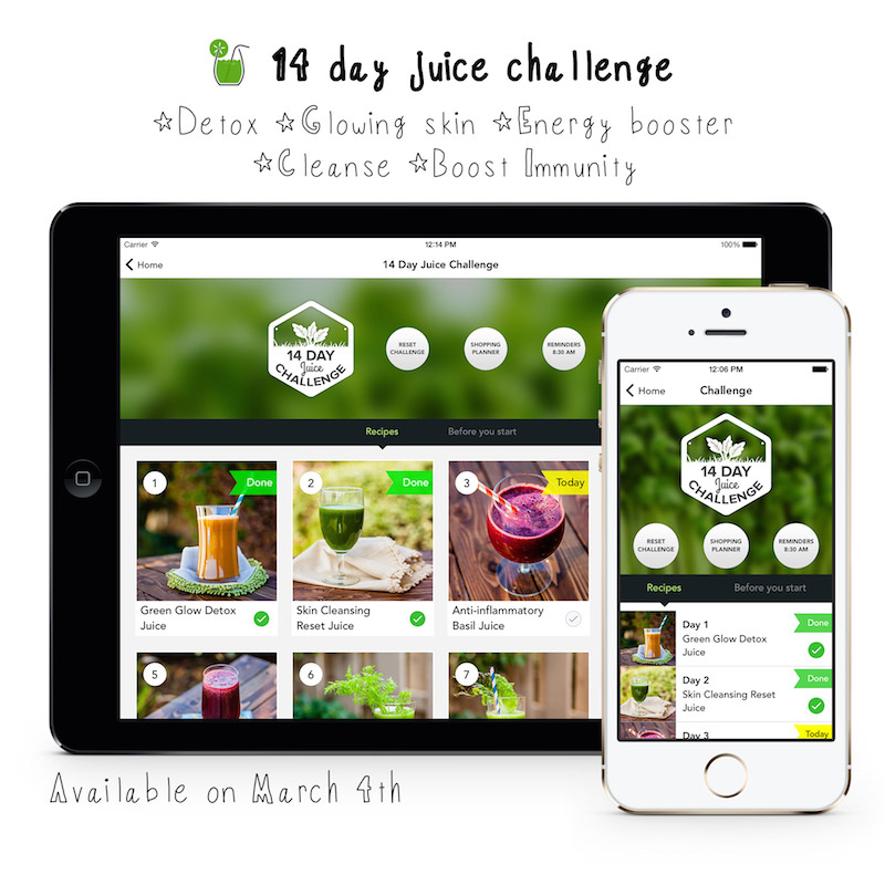 14 day juice challenge app young and raw