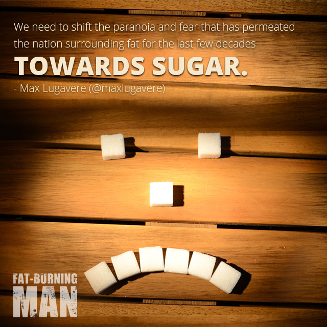 Quote on Sugar from Max Lugavere, Bread Head, Preventing Alzheimer's, and Why Sugar Makes you Dumb, max lugavere, bread head, alheimer's, prevention, sugar, brain, fat-burning tribe, lose 100 pounds, blood sugar, heal, real food, science, technology, diabetes 3, blood pressure, degenerative, disease, fats, good fat, diet