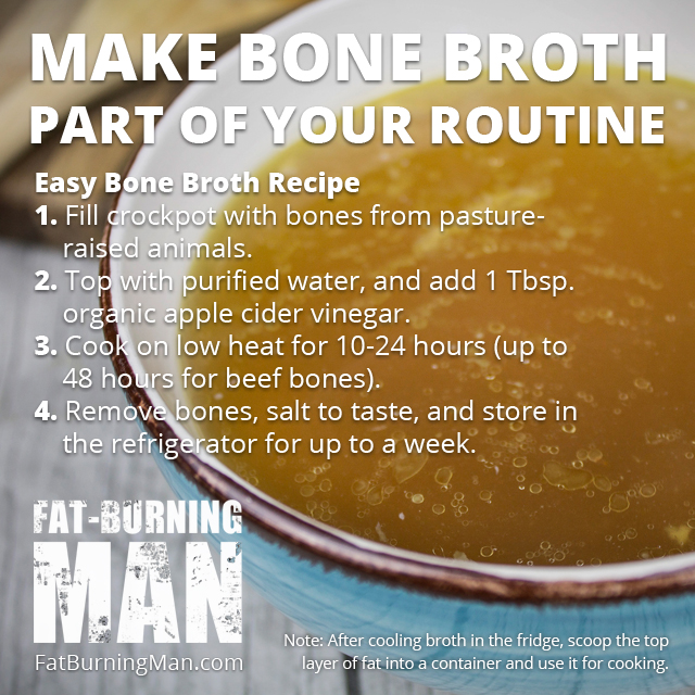 How to Make Easy Bone Broth Recipe, fat-burning, collagen, anti-aging, age reversing food, nourish, heal your gut, healing, routine, cooking, crockpot, minerals,