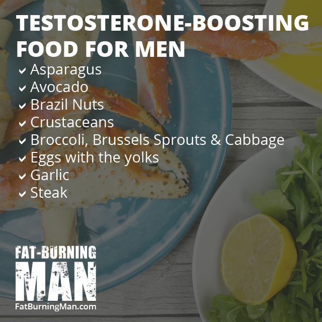 Testosterone-Boosting Foods for Men, Over 40, burn fat, lose weight, how to, easy, bone broth, recipe, fat-burning, fat-burning man, abel james, collagen, anti-aging, age reversing food, nourish, heal your gut, healing, routine, cooking, crockpot, minerals, somatopause, menopause, over the hill, extra fat, body fat, growth hormone, estrogen, testosterone, boost, foods