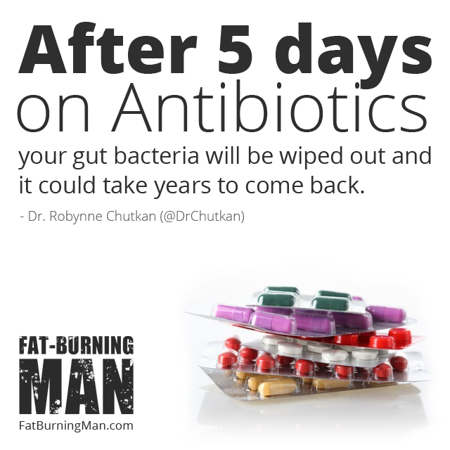 I can't tell you not to take the antibiotic for your sinus infection—but after five days on antibiotics, your gut bacteria will be wiped out and it could take years to come back. Watch the Interview: http://bit.ly/rewildmicro