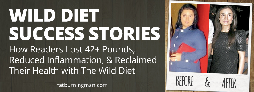 Learn how readers lost 42+ pounds, reduced inflammation, and reclaimed their health with The Wild Diet: http://bit.ly/beforaftr