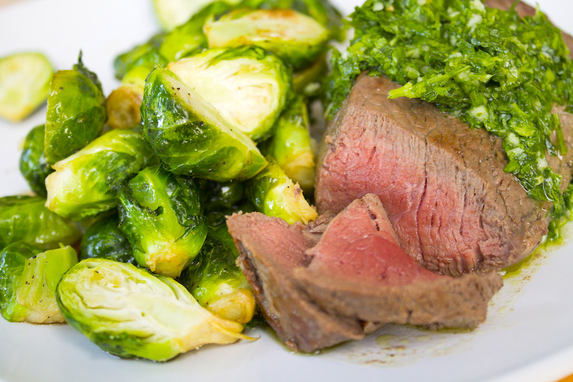 Slathered in Spanish Chimichurri sauce, this steak comes together in minutes: http://bit.ly/wildsteak