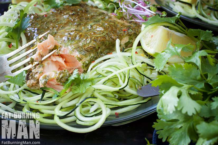 Wild-caught salmon is packed with Omega-3 fatty acids and this mouth-watering salmon recipe is a snap to make: http://bit.ly/omegarecipe