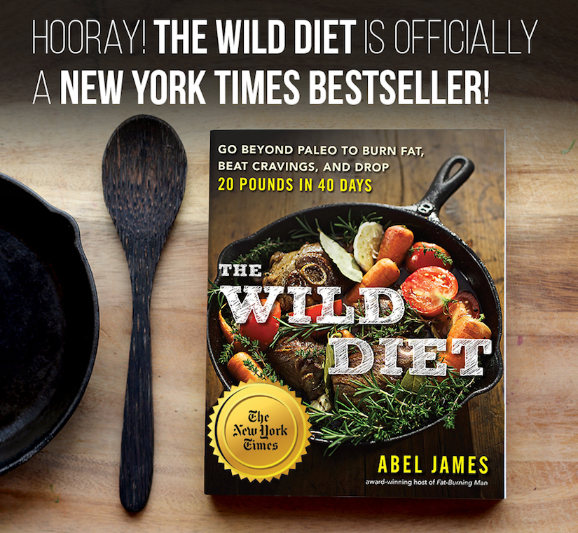 The Wild Diet is now officially a New York Times Bestseller: http://bit.ly/wdnytbest