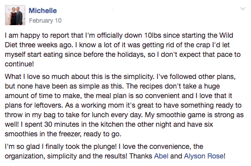 Here's what Michelle said about our meal plans: http://bit.ly/chknmsl