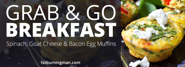 Easy Grab & Go Breakfast: Spinach, Goat Cheese & Bacon Egg Muffins (Gluten-Free)