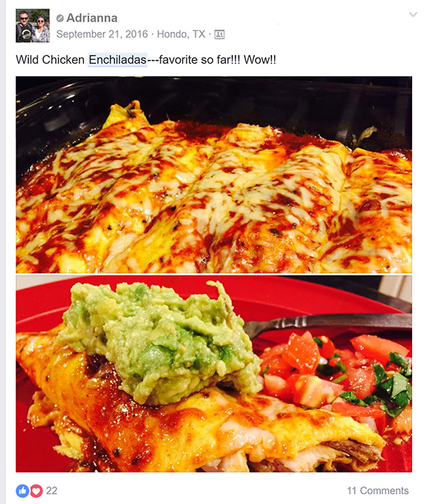 Get the recipe for these Wild Chicken Enchiladas: http://bit.ly/chencld